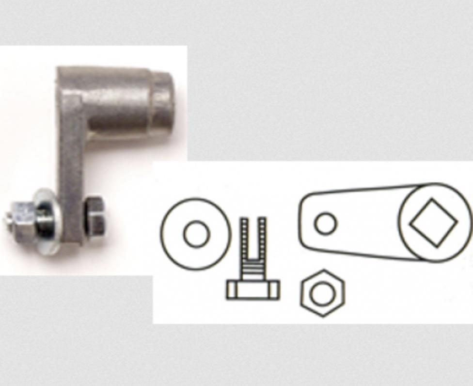 Garador Garage Rear Lock Crank Cam Garage Door Spares