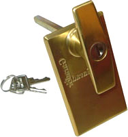 Garador Garage Door T Handle Lock Brass