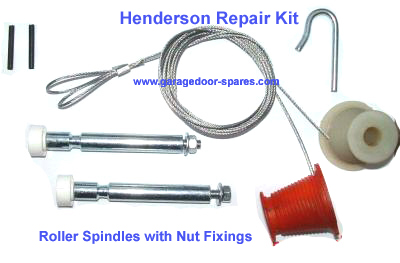 Henderson Garage Door Kit Cables and Roller Spindles (nut)