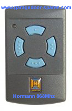 Hormann 868 Mhz Blue Button Remote Control (small)