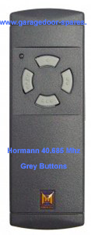 Hormann 40.685 Mhz Remote Control Grey Buttons
