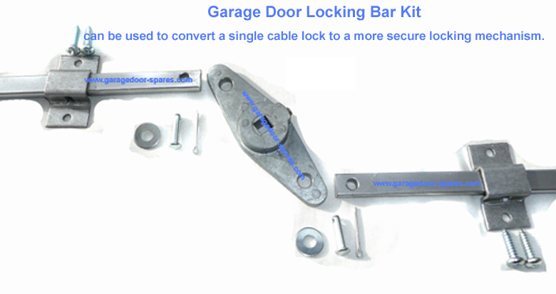 Garage Door Lock Bar Kit for upto 8 foot wide