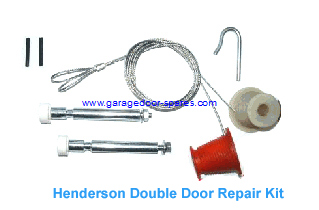 Henderson Double Door Cones, Cables and Roller Spindles Repair Kit