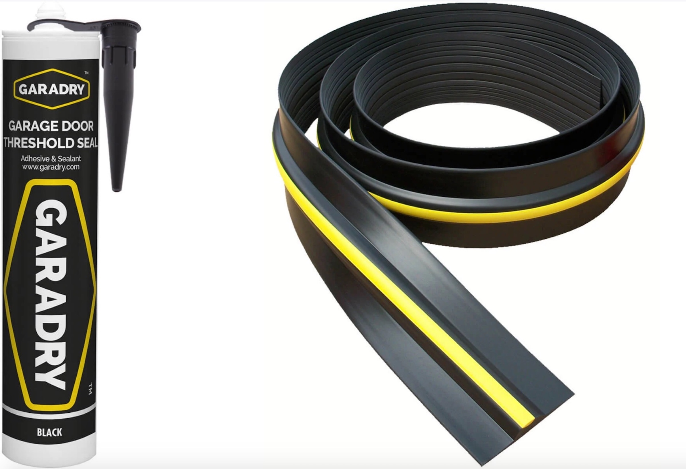 Garage Door Rubber Floor Seal 14'3 4.4m and Adhesive