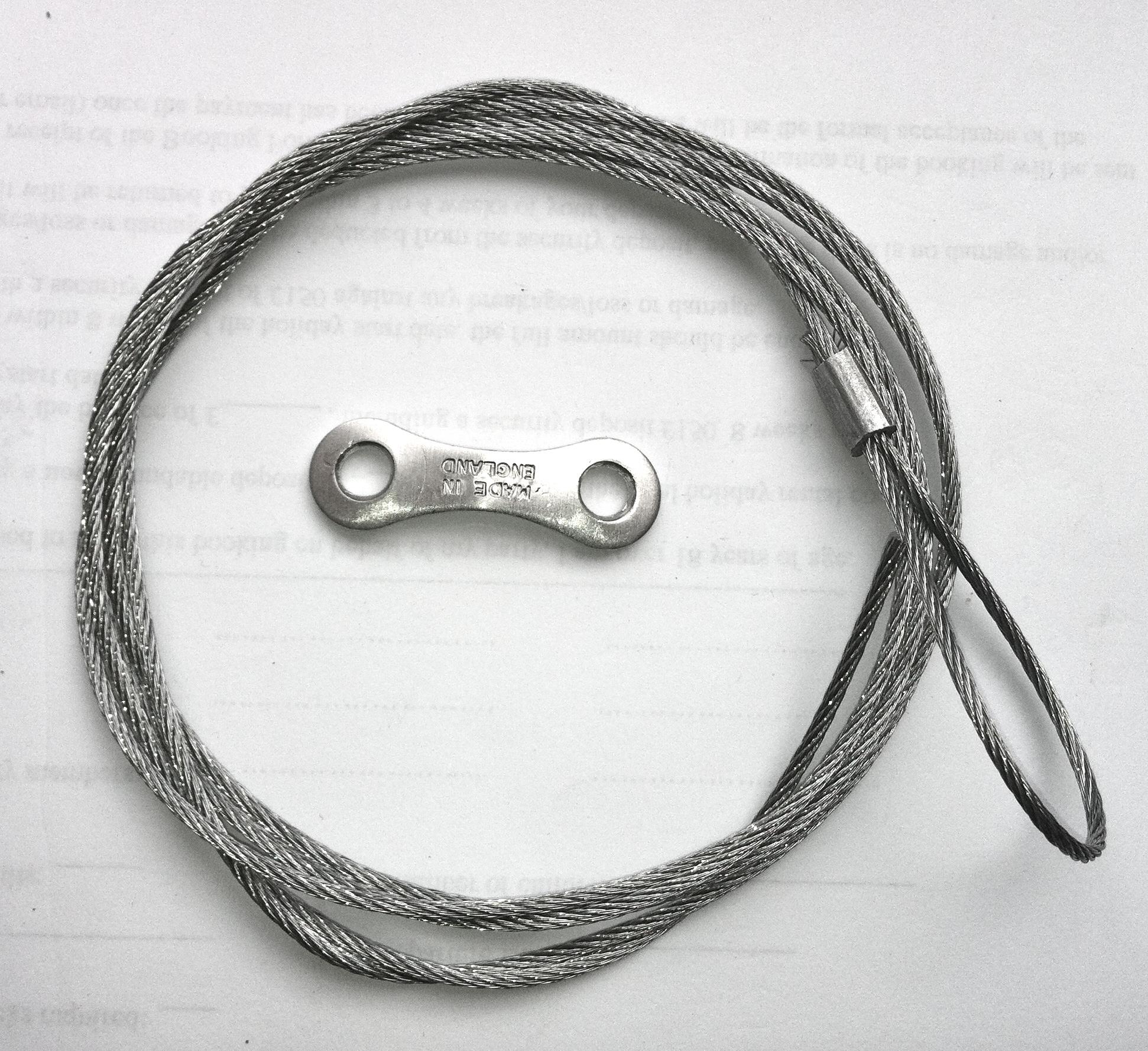Lock Cable For Double Doors 2 5m Garage Door Spares