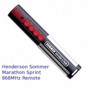 Henderson Marathon Sprint Duo 868Mhz Remote Operator