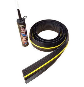 Garage Door Rubber Floor Seal 20.5 foot 6.3m and Adhesive