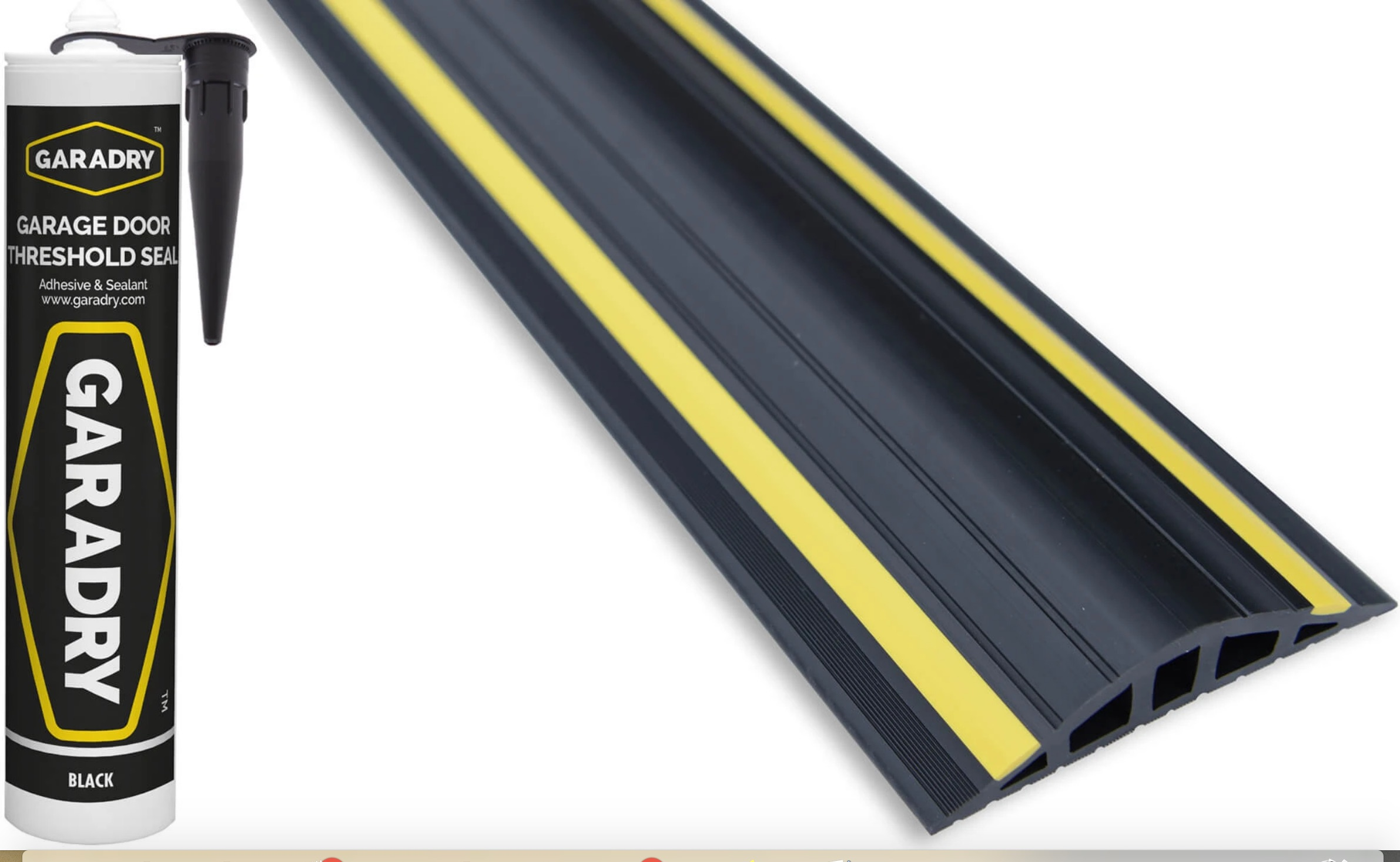 25mm High x 3.12m - 10 foot 3 Long & 1 x adhesive