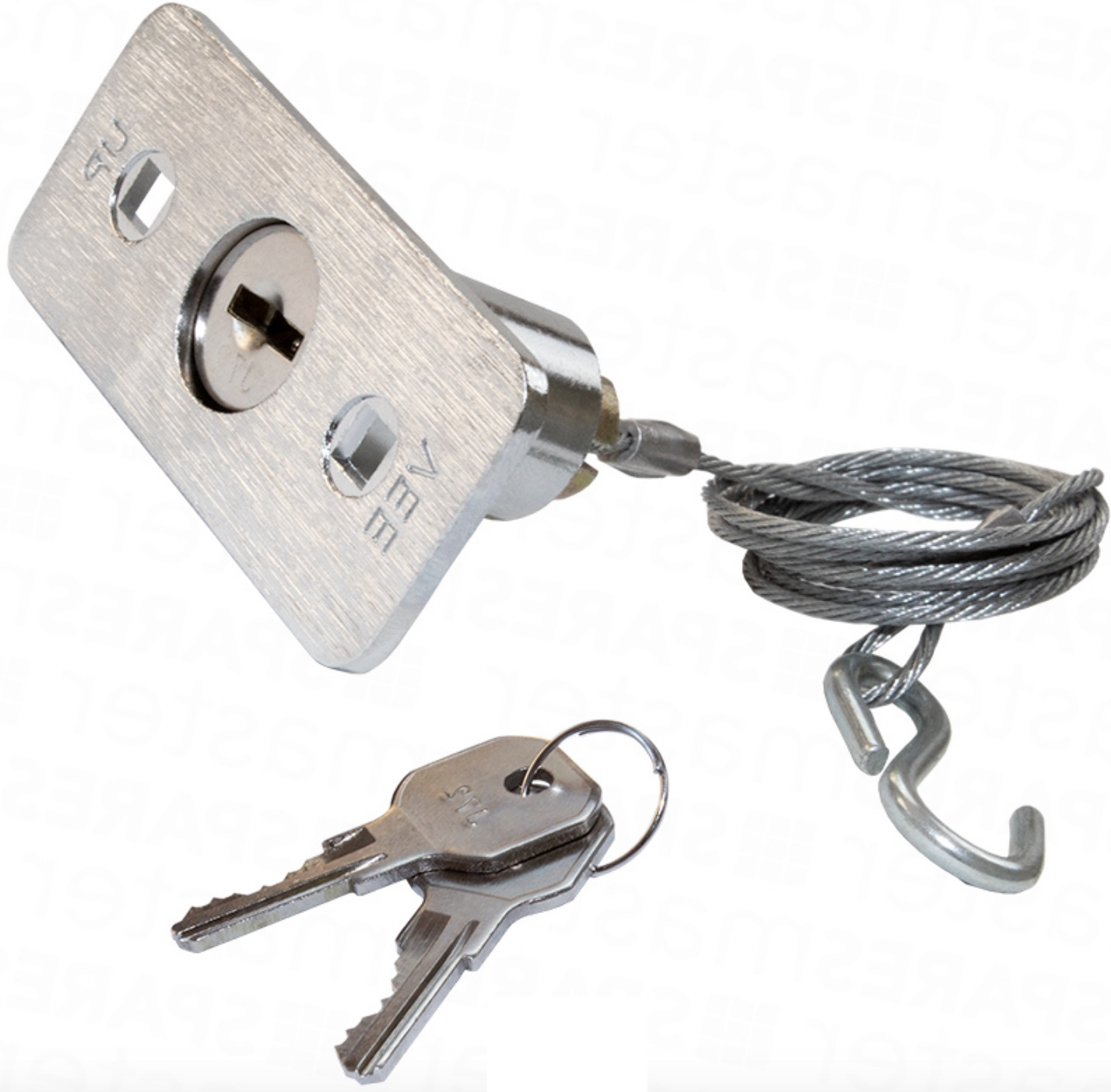 Emergency External Release Lock for remote operator system Flat Key 3ft Cable