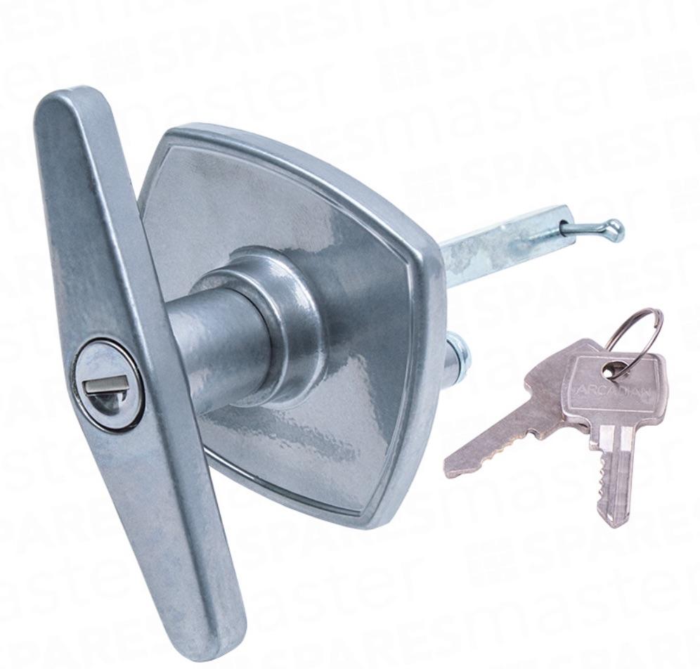Birtley Garage Door T Bar Lock Rear Fixing Handle