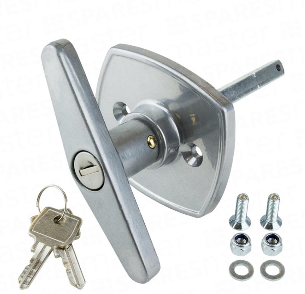 Compton Apex Garage Door T Bar Lock Locking Handle front fixing