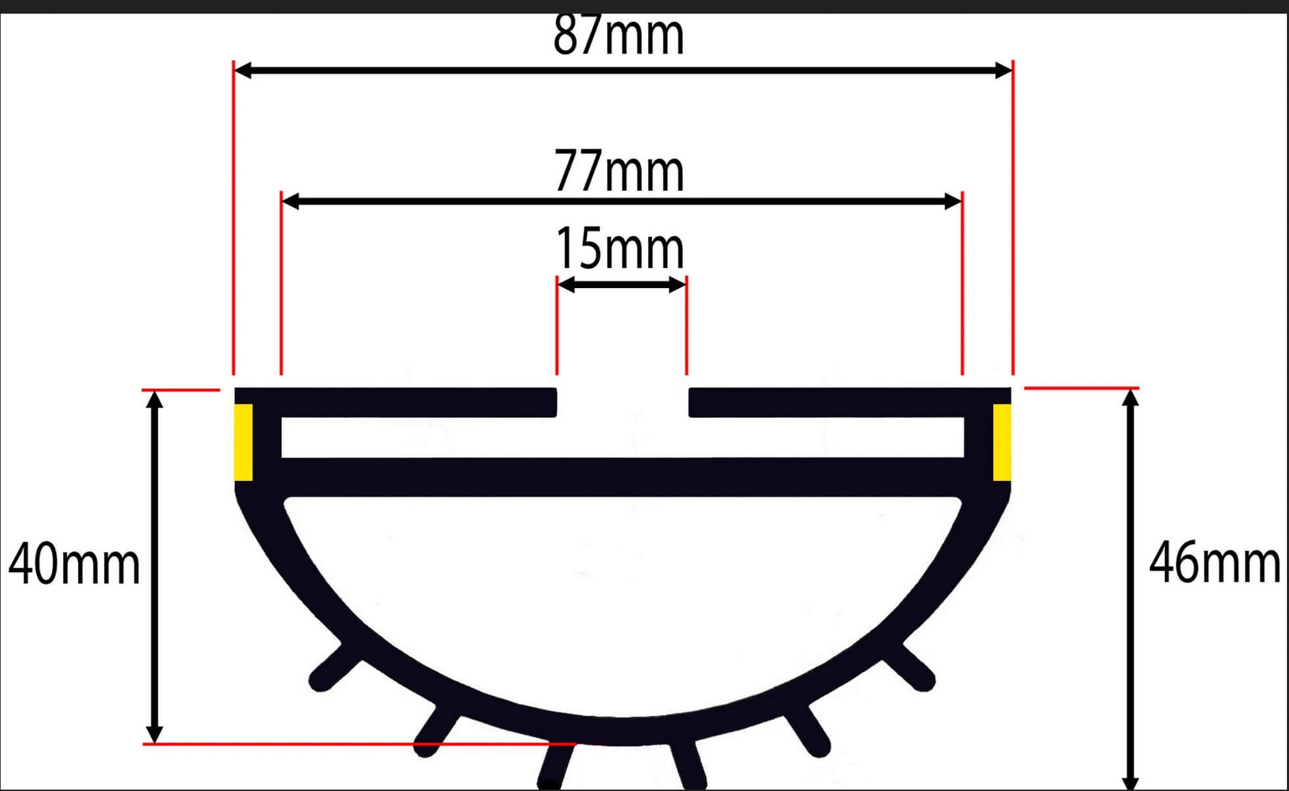 6.0m Bottom Seal for Roller Shutter Garage Door - warehouse factory use