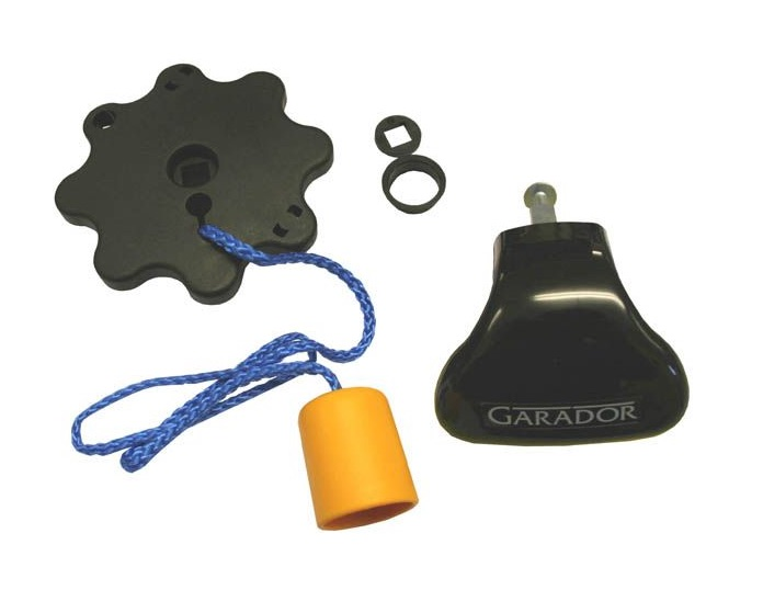 Garador External Black Plastic Garage Door Lock Handle & Internal Pull Rope