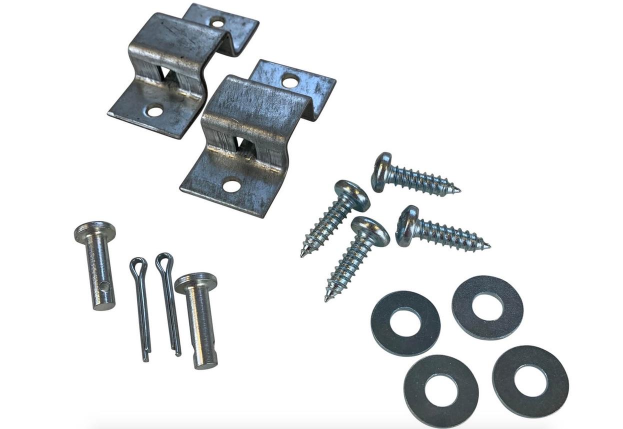 Garage Door Locking Bar Rear Fixing Brackets Kit
