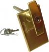 Garador Garage Door T Handle Lock Brass